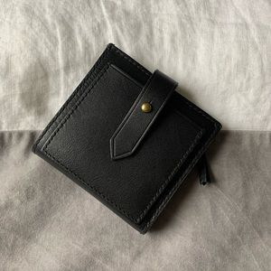 Madewell Post Billfold Wallet in Black